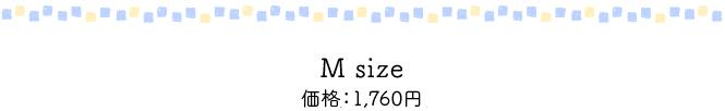 M size 価格1,600円(税別)