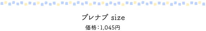 プレナプ size 価格950円(税別)